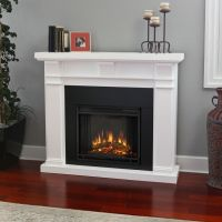 Real Flame 'Porter' White Electric Fireplace