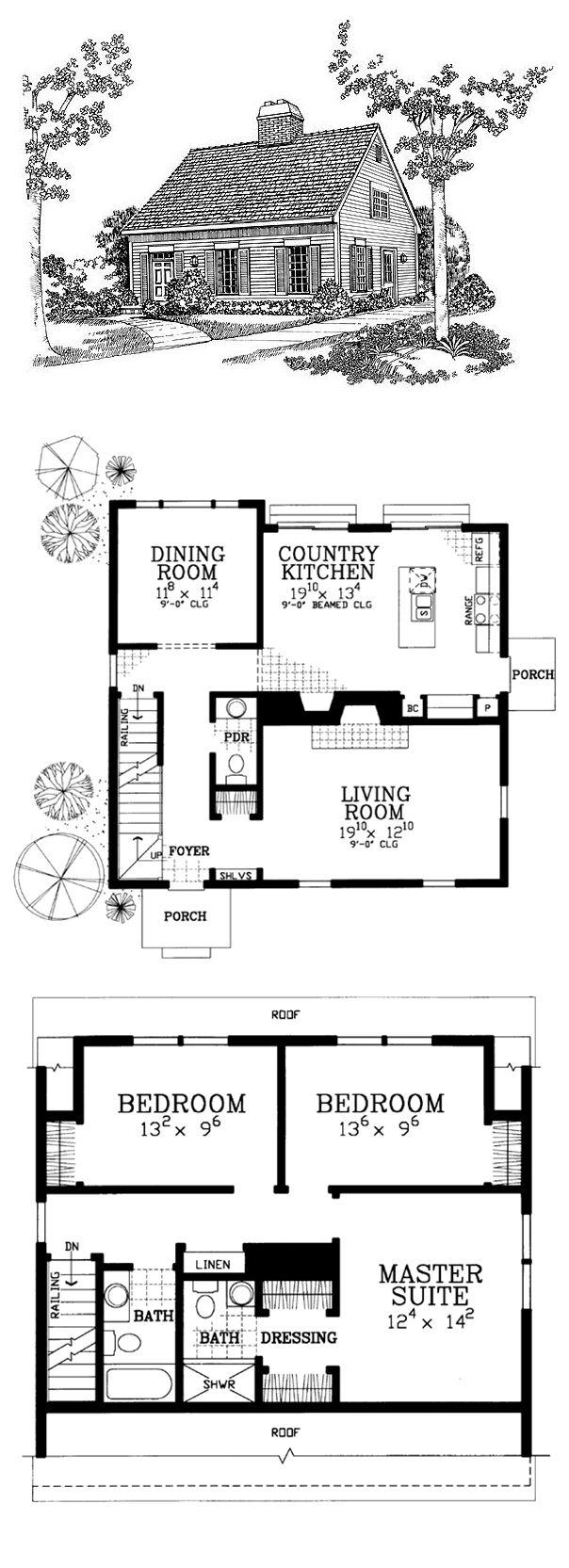 Tiny cape cod house plans for Cape style floor plans