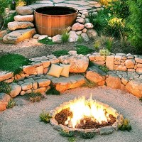 hot tub and fire pit! sweinberger