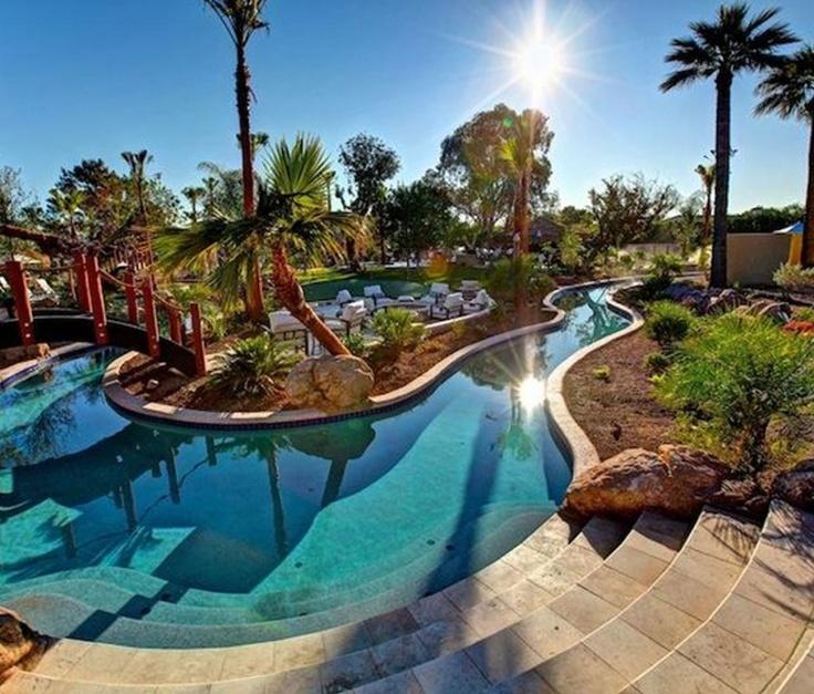 Lazy River backyard pool ideas
