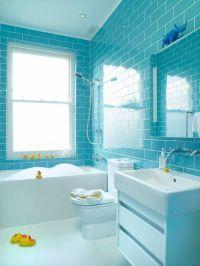 turquoise tile bathroom