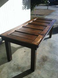 Reclaimed door table, Louisiana (Large)