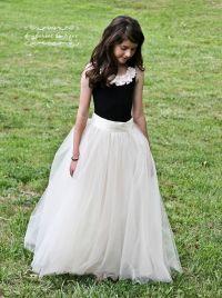 tutu skirt for girls, flower girl dress, Soft Tulle ...