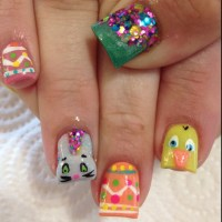 Easter 3D Acrylic Nails | My Style | Pinterest