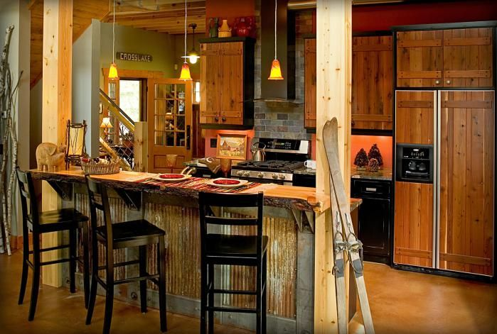 Corrugated Metal Kitchen Island Corrugated Metal Kitchen Island | Mountain Air | Pinterest