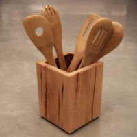 Wooden Kitchen Utensil Holder | Woodworking | Pinterest