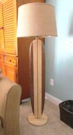 Surfboard Floor Lamp