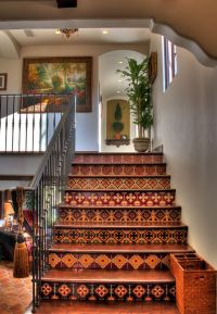 Spanish Revival Stairs with Tile risers | Random Compile ...