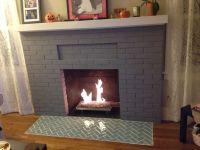 Herringbone glass tile fireplace hearth | Fireplace ...