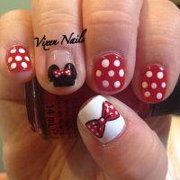 Minnie Mouse nail art | NAIL ART | Pinterest