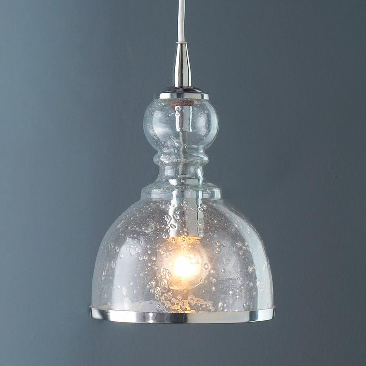 Seeded Glass Pendant Light Colored Seeded Glass Pendant Available In 4 Colors: Aqua