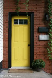yellow front door | My house | Pinterest