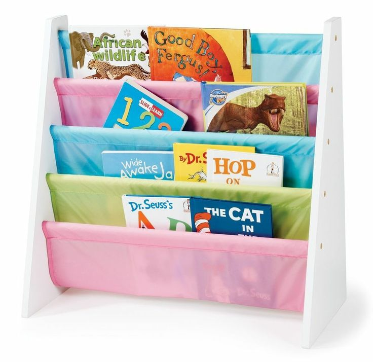 Kids Book Holder Bookcase Rack Shelves Wood Organizer