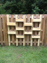 Fence planters   Garden   Pinterest