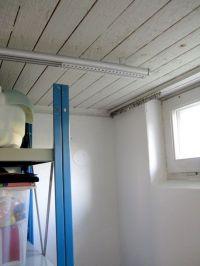 ceiling mounted curtain tracks. | DIY : Home Hacks | Pinterest