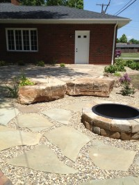 Fire Pit with Sitting Area | Gardening | Pinterest