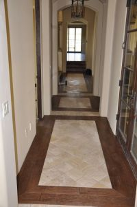 Tile / wood entryway | Wood Floors | Pinterest