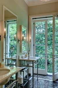 French doors in bathroom | Interior design- Bathrooms ...