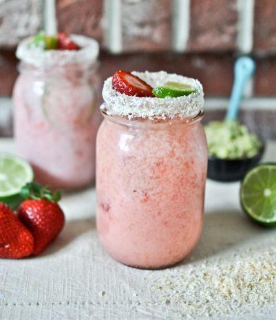 Fresh Strawberry Coconut Margaritas   How Sweet It Is