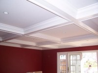 Coffered Ceiling simple design | Rustic Decor | Pinterest