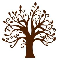 Tree Wall Art Branches and Leaves Chocolate Brown Vinyl 22 ...