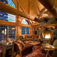 Large Log Cabin Living Rooms - Best site wiring harness