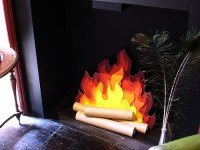 Paper Fire for Faux Fireplace | diy | Pinterest