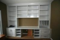Custom Built White Bookcase Wall Unit