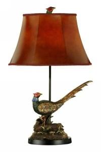Pheasant Resin Table Lamp