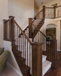 stair railing and posts | New House | Pinterest