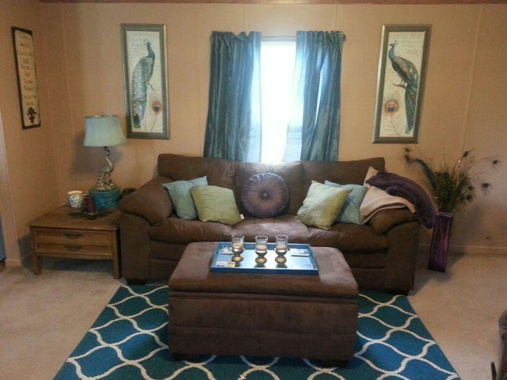 Peacock themed living room