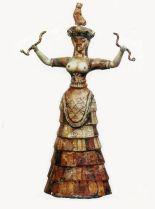 Minoan Snake Goddess We Greece Pinterest
