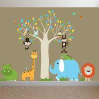 ON SALE Jungle Safari Baby Nursery Wall Decal Sticker Mural