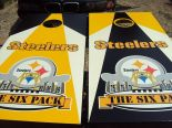 Pittsburgh Steelers Cornhole Boards As I Cheered Pinterest