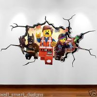 LEGO MOVIE CRACKED WALL Explosion Full Colour Wall Art ...