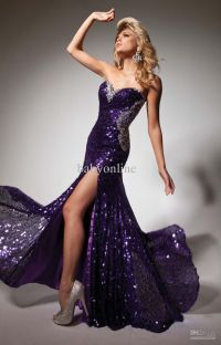 Purple Sequin Prom Dress | www.imgkid.com - The Image Kid ...