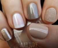 Nails neutral and glitter ombre | Nails | Pinterest
