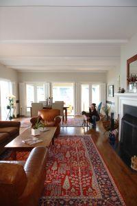 Oriental Rug Modern Living Room