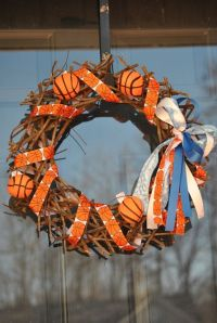 March Madness Basketball Wreath | Door decorations | Pinterest