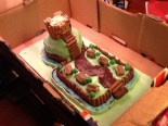 My Motte And Bailey Castle Cake For History Homework Motte And