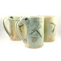 Ceramic Mug Dragonfly Coffee Cup Large Pottery Mug IN ...