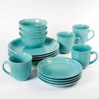 turquoise dinnerware set | For the Home | Pinterest