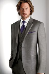 The gallery for --> Grey Suit Purple Tie