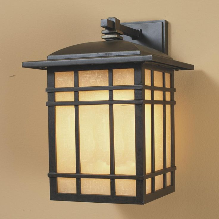 Energy Star Bronze Craftsman Mission Outdoor Light
