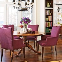 Love comfy arm chairs at a kitchen table   HOME   Pinterest