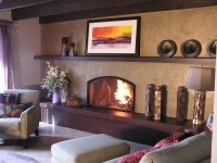 raised hearth - very intriguing idea | Fireplaces | Pinterest