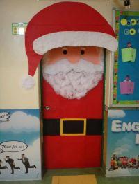 Santa-Classroom-Door-Decoration-Idea | Christmas | Pinterest