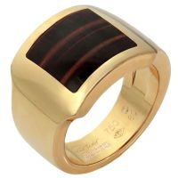 CARTIER Tiger's Eye Men's Rose Gold Ring
