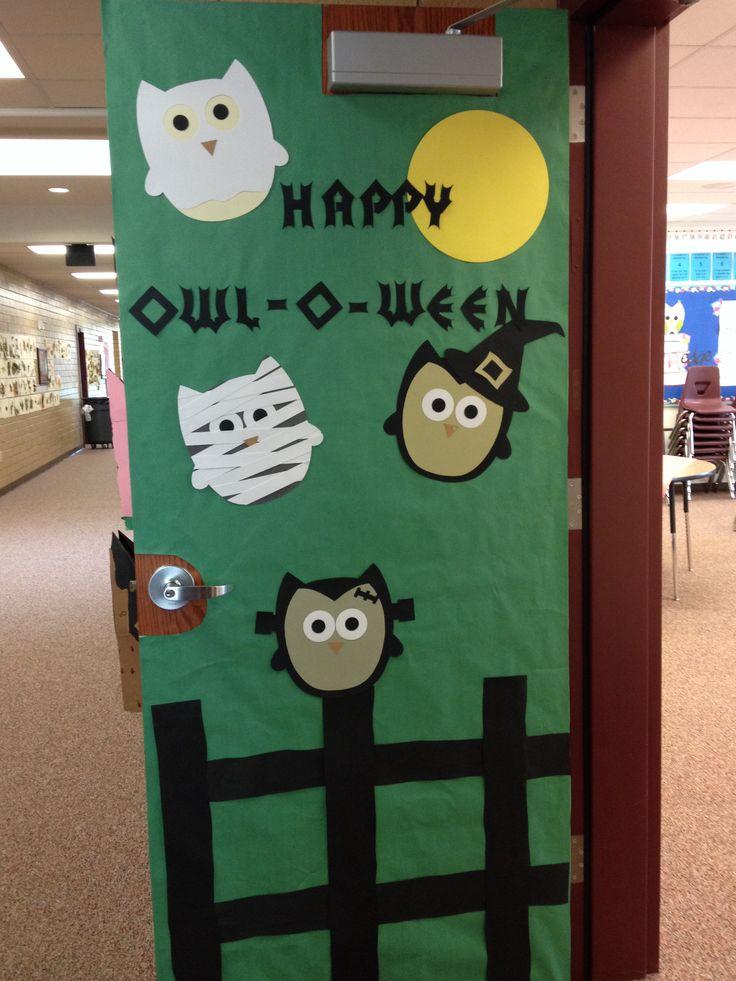 Halloween door decoration classroom decor pinterest