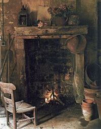 hearth and home ... old cottage   ~ Old Fireplaces and ...